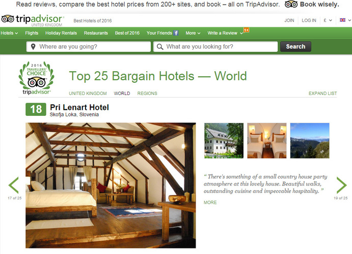 Tripadvisor Awards Top Hotels 2016
